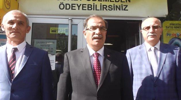 Vali Salim Demir, Ptt Başmüdürü İsmail Ertaş'ı Ziyaret Etti.
