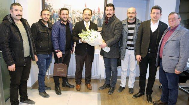 Yolların Emektarlarından Başkan Cahan'a Teşekkür Ziyareti