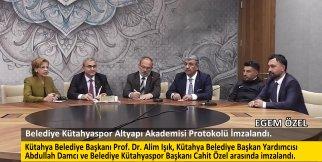 Belediye Kütahyaspor Altyapı Akademisi Protokolü İmzalandı