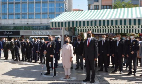 19 Eylül Gaziler Günü 15 Temmuz Şehitler Meydanı'nda düzenlenen törenle kutlandı.