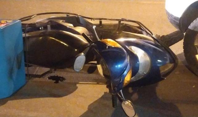 Motosiklet sürücüsünü kullandığı ekipmanlar kurtardı.
